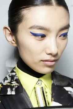 Kenzo Beauty A/W '14 :: blue velvet cat eye