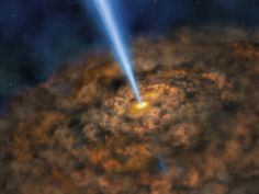 Illustration of the ring of dust that can obscure the energetic processes near the black hole of an active galactic nuclei. - NASA