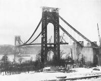 Bridge Construction, Spaceship Art, Famous Buildings, Collaborative Art, George Washington Bridge, World Trade Center, City Art, Photo Archive, Brooklyn Bridge