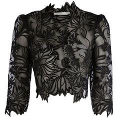 Karen Millen Floral embroidered jacket ($125) found on Polyvore