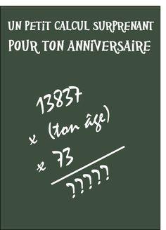 Un calcul pour ton anniversaire