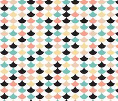 Geometric retro circus pops of chevron fabric by littlesmilemakers on Spoonflower - custom fabric