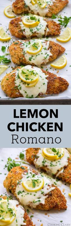 Lemon Chicken Romano - Cooking Classy - Lemon Chicken Romano- my family LOVES this recipe! Cooking Recipes, Healthy Recipes, Healthy Chef, Brunch, Turkey Recipes, Food Dishes, Main Dishes, Italian Recipes, Italian Cooking