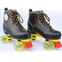 New Double Line Roller Skates Boots for Women Men 4 Wheels Skating Shoes for Outdoor Indoor Sports