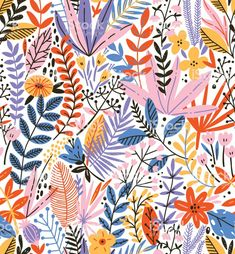 Flower Pattern Drawing, Pattern Art, Flower Patterns, Pattern Design, Plant Illustration, Pattern Illustration, Minnie Mouse Drawing, Textures Patterns, Print Patterns