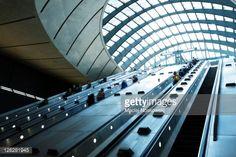 Stock Photo : People on Escalators at Subway Station