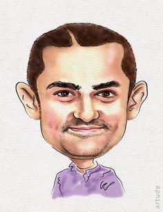 Aamir Khan Caricature