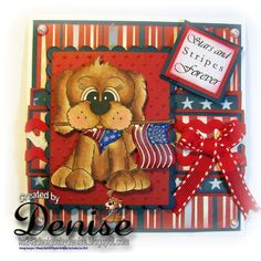+Delightful Challenges Red White and Blue - Loves Rubberstamps Challenges - Week 58 Design Team Favorite - Denise