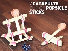 Check this out: 2 catapults out of popsicle sticks by Alexey Yakushechkin