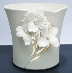 Beautiful 1989 Cliff Top White Pottery by ATPVintageBoutique, $40.00