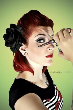 Hair stylist rockabilly pin up reminds me of Kelsey Cut My Hair, Hair Cuts, Pin Up, Headshot Photography, Photography Branding, Hair Photo, Bad Hair, Up Girl, Vintage Hairstyles