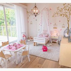 This toddler bedroom is ADORABLE!! Credit to Interiors by Maite Granda