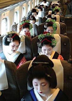 "holynightjapan: "" MAIKO in the Train… """