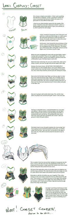 Loki cosplay guide: Corset by SirLadySketch.deviantart.com on @deviantART