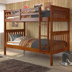 Donco Kids Twin/ Twin Espresso Finish Mission Bunk Bed