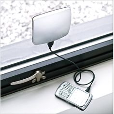 Solar power window charger