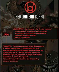 Margaret (parents tried to sacrifice her to earn a ring from Corps invaders, backfired spectacularly, but she didn't want to join the lanterns so wandered away, shadowing Linkara) Red Lantern Corps, Lantern Corps Oaths, Comic Book Characters, Comic Character, Comic Books, Marvel Vs, Marvel Dc Comics, Gi Joe, Superhero Facts