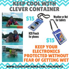 Summer Must Have #4 H2O Pouch - $15 Never miss out on those fun water pictures again!