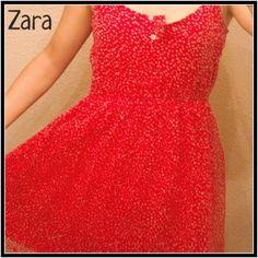 ZARA Red Polka Dot Chiffon Dress Size S Super cute dress from the Zara TRF Collection. Fun and flirty dress for spring/summer. Belt included. Zara Dresses Mini