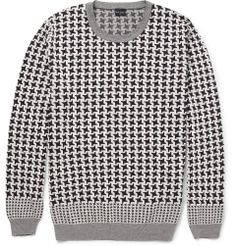 PS by Paul Smith - Houndstooth Check Cotton Sweater|MR PORTER