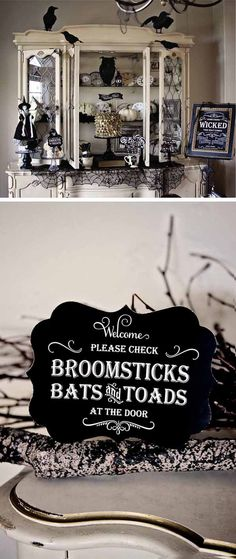Wicked Witch's Tea (several cute ideas, including the pinned sign that would go with the Witch Hat Check)