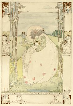 Jessie M. King, illustration for Seven Happy Days