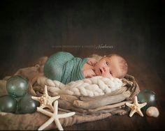 Beach themed newborn with Alaska Photography & Design | Alaska's Premier Newborn Photographer | www.akdesignstudio.com
