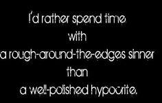 Sinner vs hypocrite