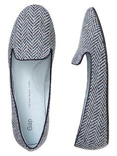 Gap Tweed Loafers - black print