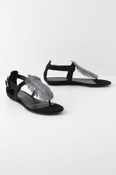 04f62f4ba10 Argent Feathered Sandals - Anthropologie.com Bridesmaid Shoes