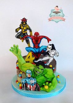 Kloboučkovic dortíky Beautiful Cakes, Amazing Cakes, Avengers Birthday Cakes, Marvel Cake, Superhero Cake, 11th Birthday, Cake Boss, Novelty Cakes, Cakes For Boys