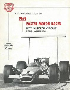 Roy Hesketh Racing Programmes 5th April 1969 | Pietermaritzburg