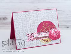 Crush On Colour: Stampin' Up Artisan Blog Hop: Love Blossoms