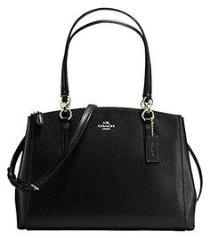 Coach Crossgrain Leather Christie Carryall Shoulder Bag Handbag Black