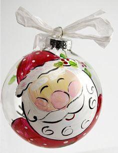 DecoArt® Santa Face Ornament #ornaments #craft #christmas
