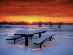Sunset and snow.xx