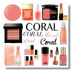 """Coral Craze"" by nuetralvibe ❤ liked on Polyvore featuring beauty, Michael Kors, Christian Dior, Essie, Bobbi Brown Cosmetics, Tom Ford and Givenchy"
