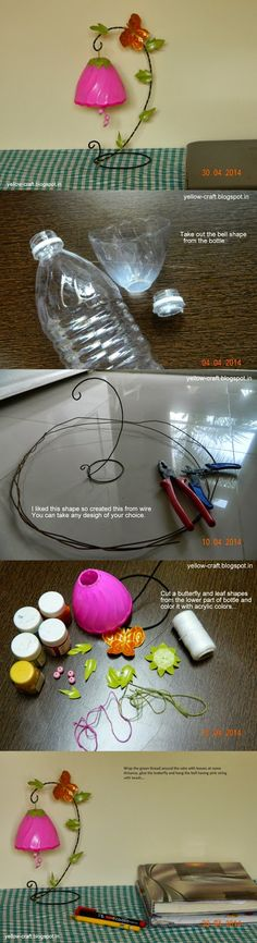 Plastic bottle craft.