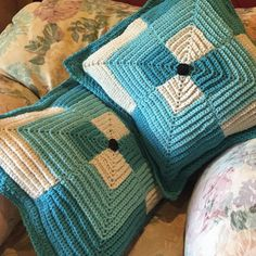 kohler.chris The mitered square pillows are finally finished! (it took me long…