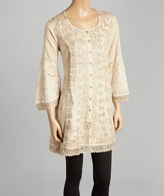 Look at this #zulilyfind! Fawn Embroidered Tunic #zulilyfinds
