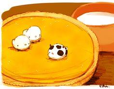 「牛さん?」●バターミルクをフィリングに使ったパイ。アメリカのお菓子です。