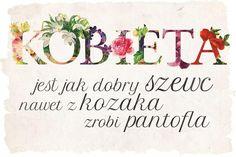 Kobieta dobry szewc - plakat typograficzny 61x91,5