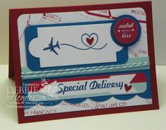 Stampin' Up! Sent With Love by Debbie Henderson, Debbie's Designs.