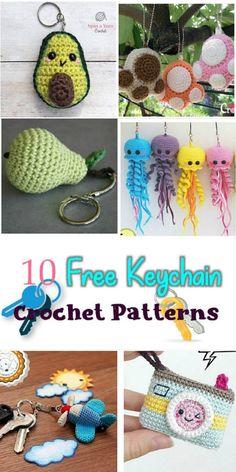 10 Free Key Chain Crochet Patterns – Crochet pattern Round up Link Blast #crochetkeychains #crochetforsummer #summercrochet #freesummercrochetpatterns #meladorascreations #crochet
