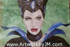 Maleficent watercolor painting