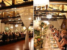 Love this long table for a wedding. Beautiful decorations at the Laurel Packinghouse in Kelowna, BC