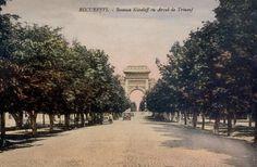 Via București Șoseaua Kiseleff și Arcul de Triumf, 1925.