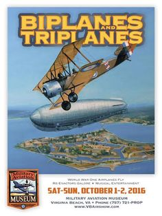 VIRGINIA BEACH, Va. — The Military Aviation Museum's Biplanes and Triplanes…