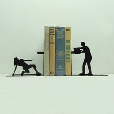 Chainsaw Attack Bookends  Free USA Shipping by KnobCreekMetalArts, $44.99