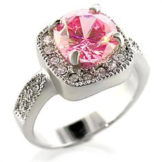 That Looks Real! Perfect Faux Diamond Ring in Pink | Foreign Chic